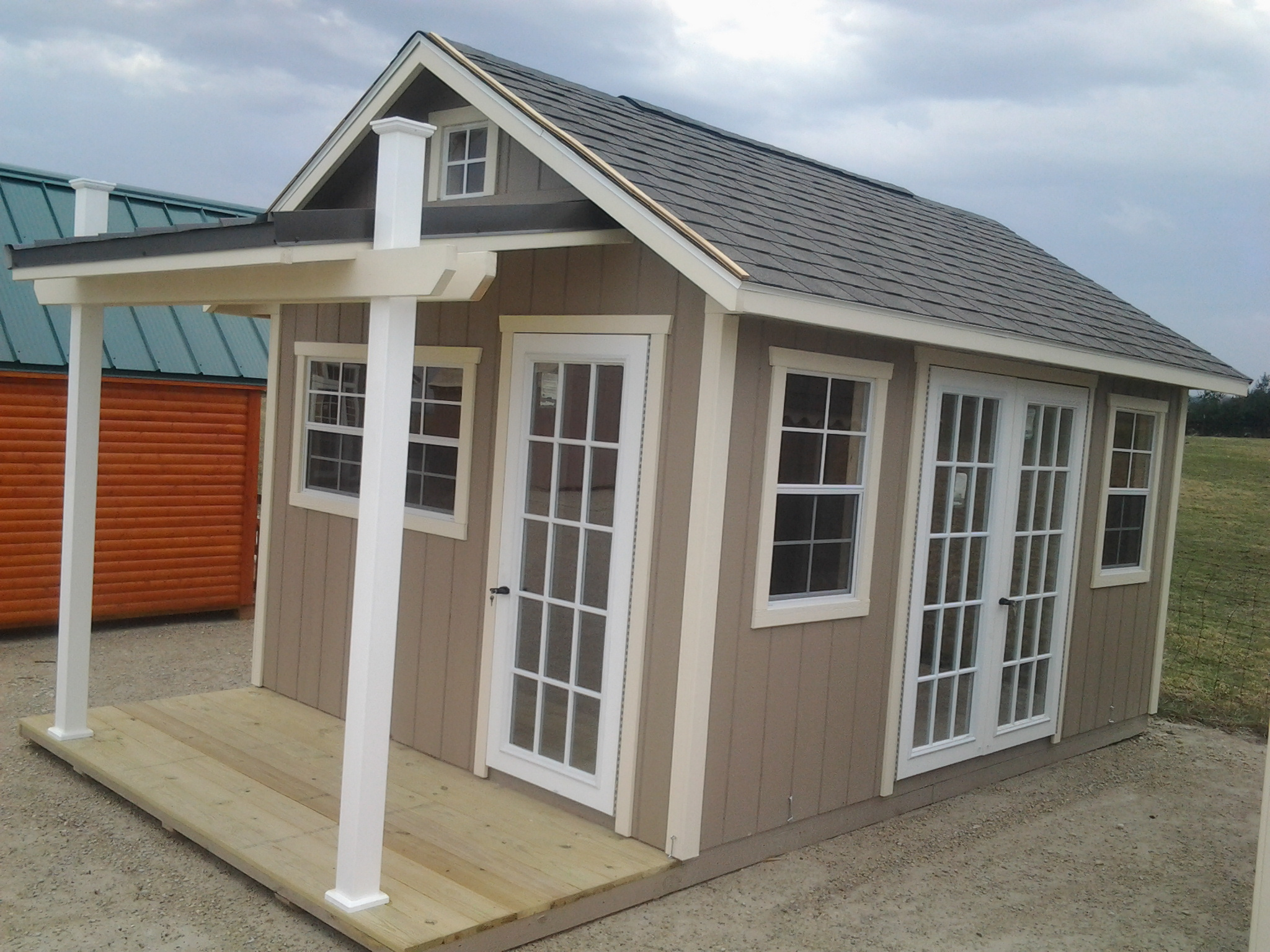 10x16 Garden Shed w/ Porch