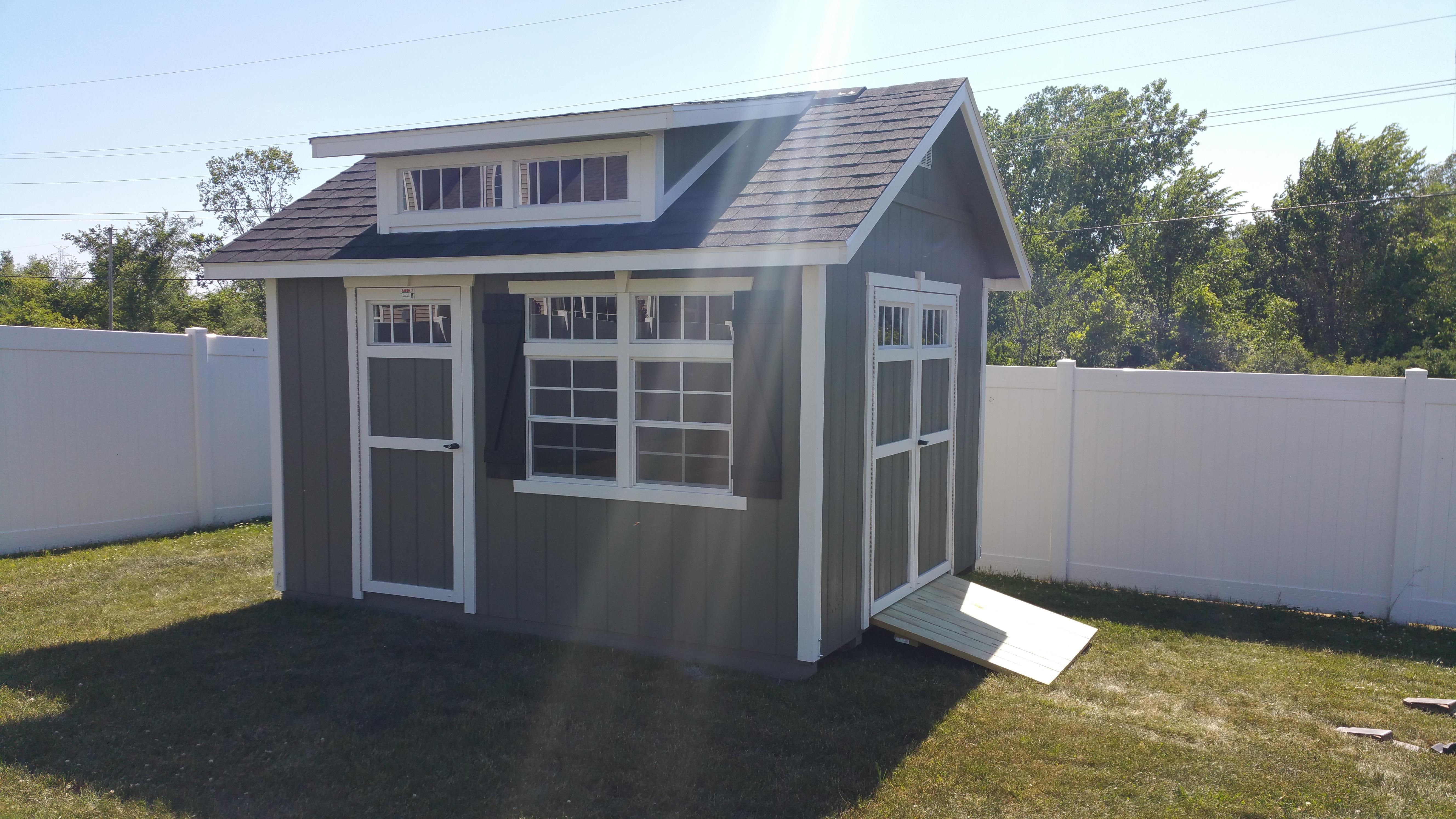 10x12 Garden Shed W Double Transom Dormer