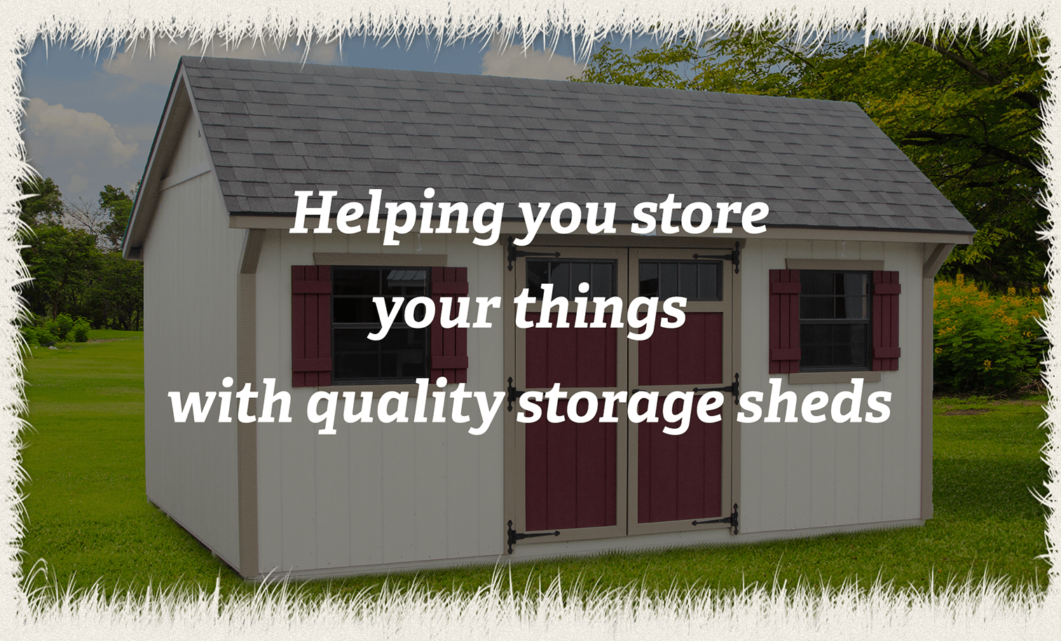 Garden Sheds Indiana storage sheds - oak lane structures - indiana