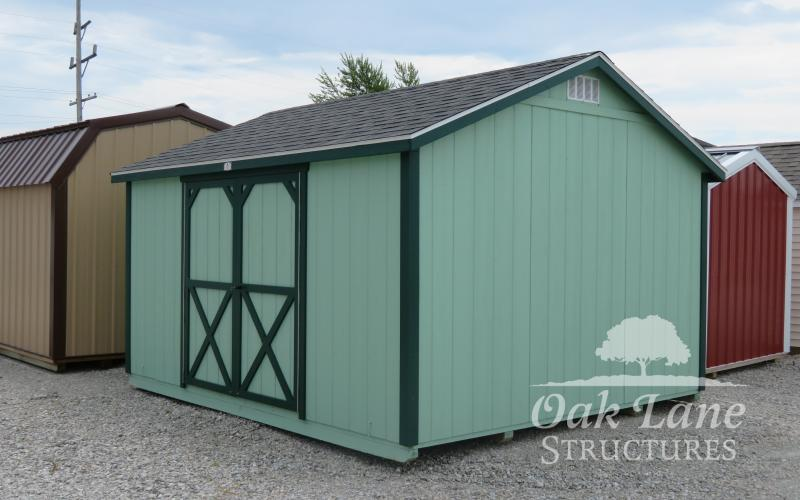 12x14 Studio, Painted, Quality Sheds, Used Sheds, Carmel, Noblesville, Zionsville, Greenwood, Indy, Brownsburg, Lawrence, Flora, Terre Haute, Lafayette, Logansport, Kokomo, Monticello, Chicago, Fort Wayne, New Haven, Roanoke, Bourbon