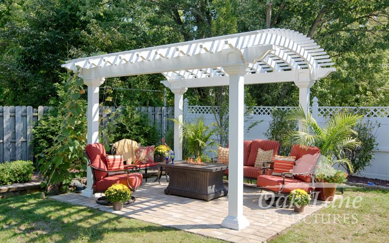 10x14 Arcadian White Vinyl Pergola- Indianapolis, Fort Wayne, and Chicago