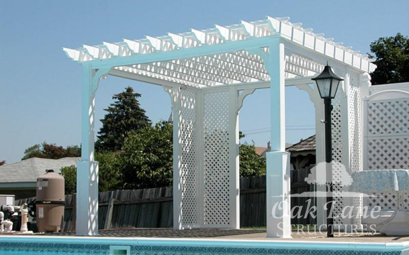 10x10 Vinyl Pergola - Indianapolis, Fort Wayne, and Chicago areas