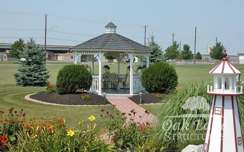 12' Octagon Vinyl Gazebo - Indianapolis, Fort Wayne, and Chicago areas