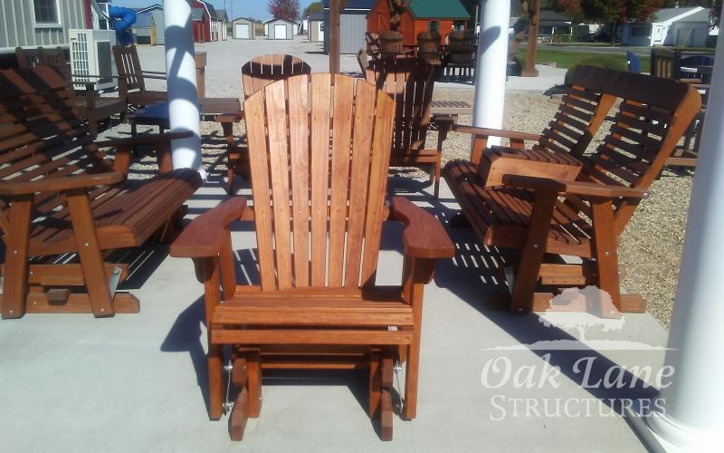 Rockers, Gliders, Chairs, Tables, Lounges, Dining Height, Counter Height, A-frame, Swings. Adirondac Chairs, Side Tables, Coffee Tables, Flora, Delphi, Indianapolis, Noblesville, Lebanon, Fort Wayne, Brookston