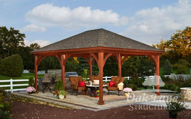 16x20 Traditional Wood Pavilion - Indianapolis, Fort Wayne, and Chicago areas