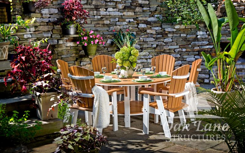 Dining Tables and Chairs, Poly Furniture, Picnic Tables, Noblesville, Zionsville, Greenwood, Indianapolis, Lebanon, Carmel, Lafayette, Logansport, Kokomo, Frankfort, Warsaw, Chicago, Fort Wayne, Monticello, Flora