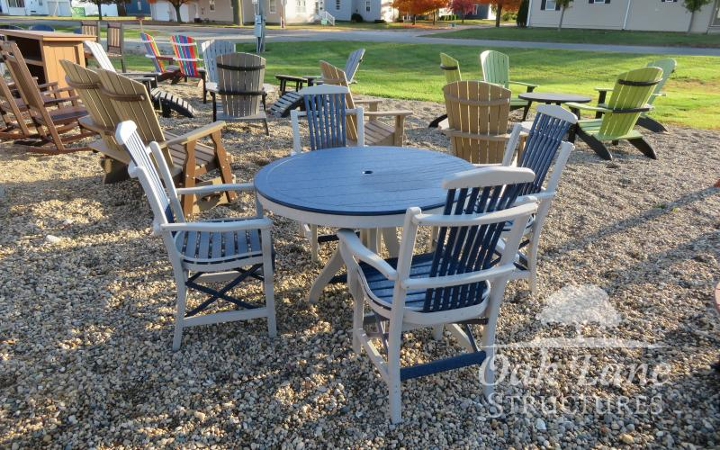 Rockers, Gliders, Chairs, Tables, Chaise Lounges, Dining Height, Counter Height, Bar Height, Coffee Table, Side Table, Adirondac Chairs, Flora, Delphi, Indianapolis, Kokomo, Fort Wayne, Brookston, Frankfort, Greenwood, Lafayette, West Lafayette, Logansport