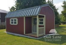 12x20 Gambrel Barn w/ Side Porch - Warsaw, Zionsville, Indianapolis, Chicago, Fort Wayne, Lafayette, Kokomo, Logansport, Carmel