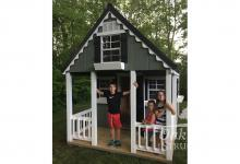 8x12 Painted Victorian Cottage Playhouse- Delphi, Warsaw, Indianapolis, Zionsville, Chicago, Fort Wayne