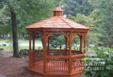 12' Octagon Wood Gazebo