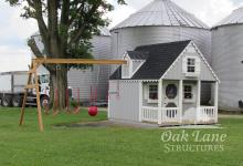 10x12 Playhouse with Swings- Warsaw, Zionsville, Indianapolis, Fort Wayne, Chicago,  Lafayette, Kokomo, Logansport