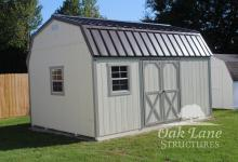 10x16 Gambrel, Painted, Cheap Sheds, Used Sheds, Carmel, Noblesville, Zionsville, Greenwood, Indy, Brownsburg, Lawrence, Flora, Terre Haute, Lafayette, Logansport, Kokomo, Monticello, Chicago, Fort Wayne, New Haven, Roanoke, Bourbon