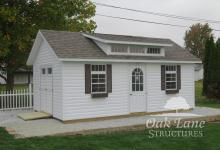 Garden Shed, Shingle Roof, Triple Transom Dormer, Oak Lane, Recreation, Maintenance Free Buildings, Noblesville, Zionsville, Chicago, Lebanon, Fort Wayne, Greenwood, Indy, Bourbon, Fort Wayne, New Haven, Flora, Lafayette, Kokomo, Logansport, West Lafayette, Monticello