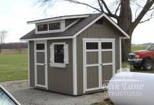 8x10 GArden Shed w/ Double Transom Dormer, Lafayette, Logansport, Noblesville, Carmel, Lawrence, Zionsville, Indianapolis, Chicago, Fort Wayne, Monticello