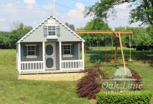 12x14  Victorian Cottage w/ Swingset Attachment- Noblesville, Chicago, Indianapolis, Carmel, Lebanon, Lafayette, Logansport, Kokomo, Frankfort, Monticello